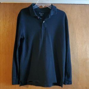 Children's Place long sleeve uniform style polo